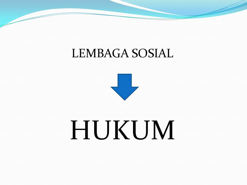 LEMBAGA SOSIAL HUKUM