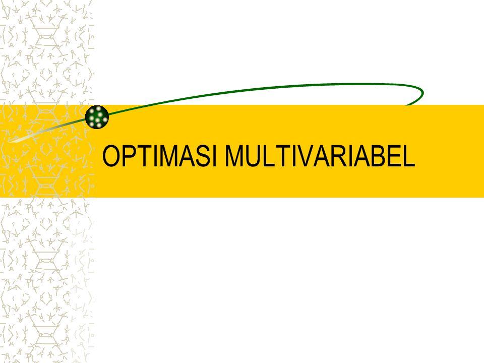 Kesimpulan Titik (x 1,x 2 )J1J1 J2J2 JSifat xf(x) (0,0)432Definit PositifMin.