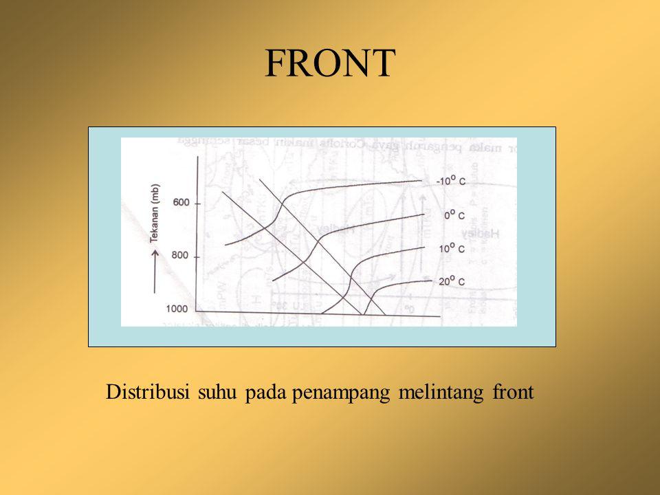 FRONT Distribusi suhu pada penampang melintang front
