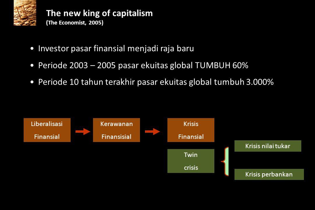 """Terjadi pertumbuhan """"tidak nyata"""" Sektor finansial tumbuh tidak proporsional dibandingkan sektor riil Indonesia: dominasi sektor finansial pasca krisi"""