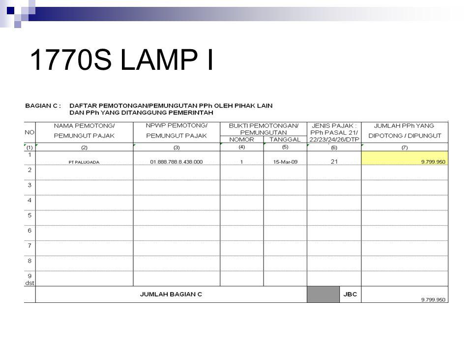 1770S LAMP I