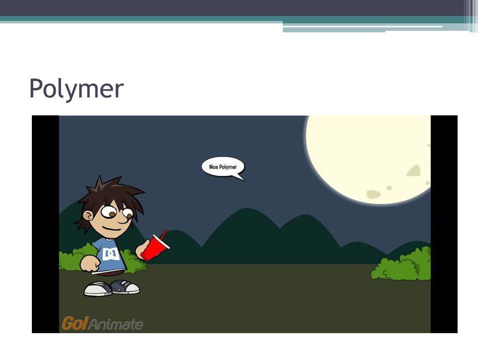 contoh salah satu pembentukkan bangun monomer menjadi polymer suatu bahan organik.