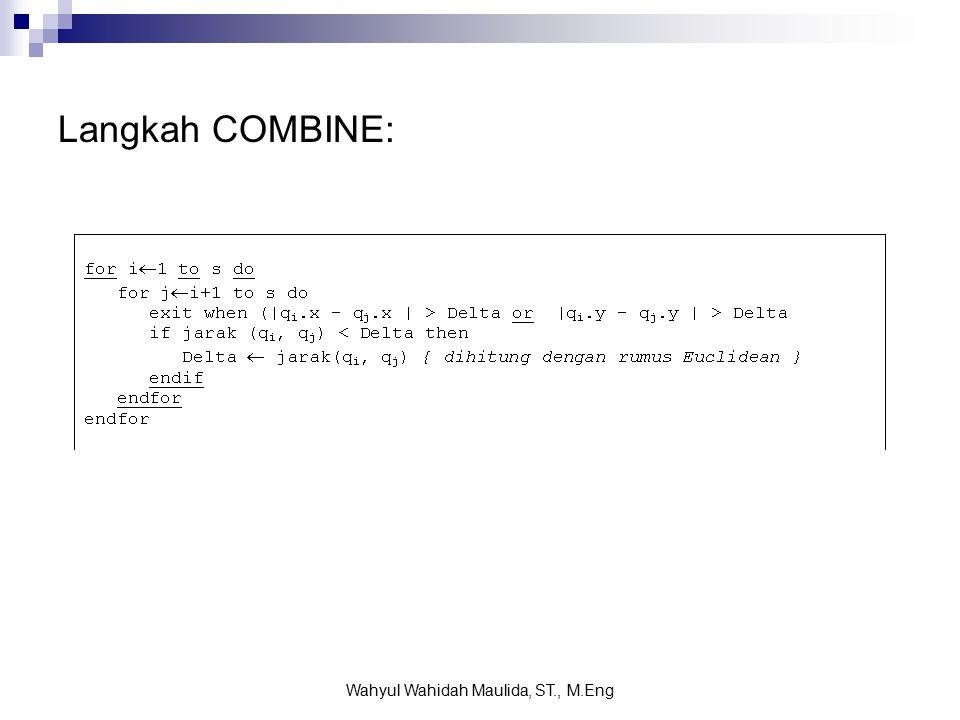 Langkah COMBINE: Wahyul Wahidah Maulida, ST., M.Eng