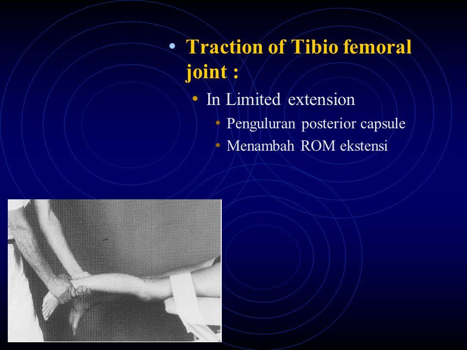 Translation of Tibio femoral joint : In Limited flexion Menambah ROM mengkoreksi gerak fleksi