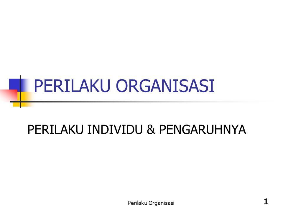 Perilaku Organisasi 1 PERILAKU ORGANISASI PERILAKU INDIVIDU & PENGARUHNYA