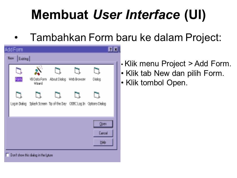 Membuat User Interface (UI) Pada Jendela Form buatlah UI seperti ini: (Gunakan komponen ListBox, ComboBox dan CommandButton)