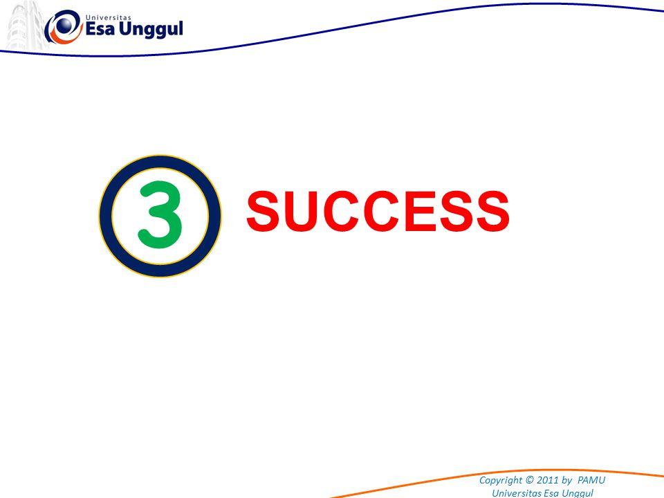 Copyright © 2011 by PAMU Universitas Esa Unggul 3 SUCCESS Satu-satunya kata untuk mengambarkan otak anda adalah MENAKJUBKAN Dr.