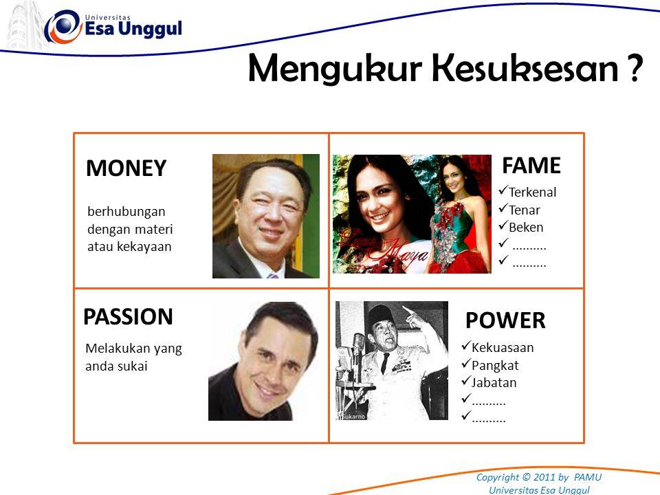 Copyright © 2011 by PAMU Universitas Esa Unggul Mengukur Kesuksesan .