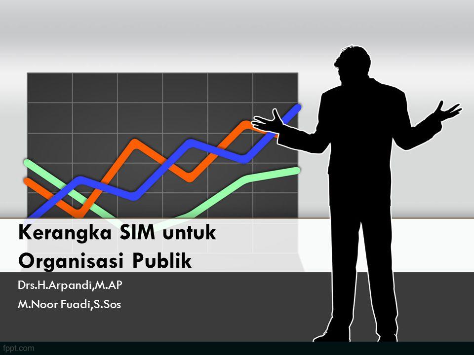 Kerangka SIM untuk Organisasi Publik Drs.H.Arpandi,M.AP M.Noor Fuadi,S.Sos