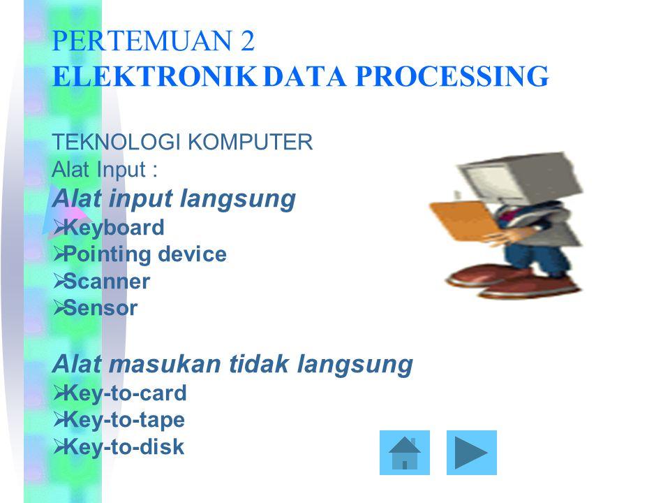 Alat pemrosesan  CPU  ALU  Memory Alat output  Hard copy device  Soft copy device  Drive device