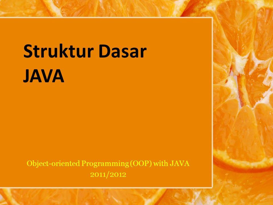 Latihan Buatlah program yang akan menerima data berupa angka integer.