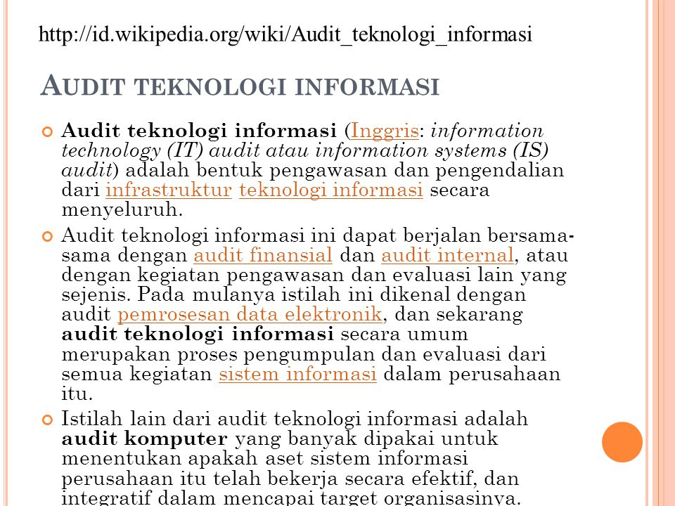 A UDIT Systematic, independent and documented process for obtaining audit evidence and evaluating it objectively to determine the extent to which the audit criteria are fulfilled