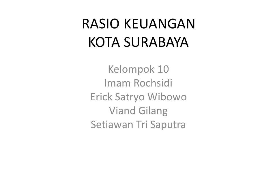 RASIO KEUANGAN KOTA SURABAYA Kelompok 10 Imam Rochsidi Erick Satryo Wibowo Viand Gilang Setiawan Tri Saputra