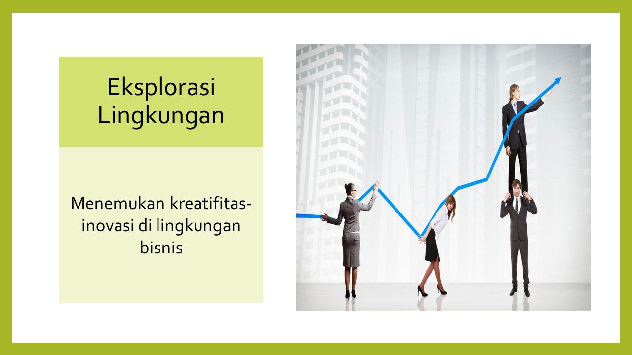 Eksplorasi Lingkungan Menemukan kreatifitas- inovasi di lingkungan bisnis