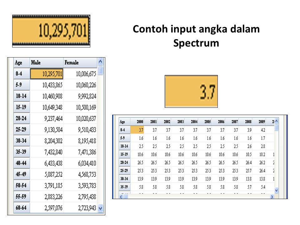 Contoh input angka dalam Spectrum