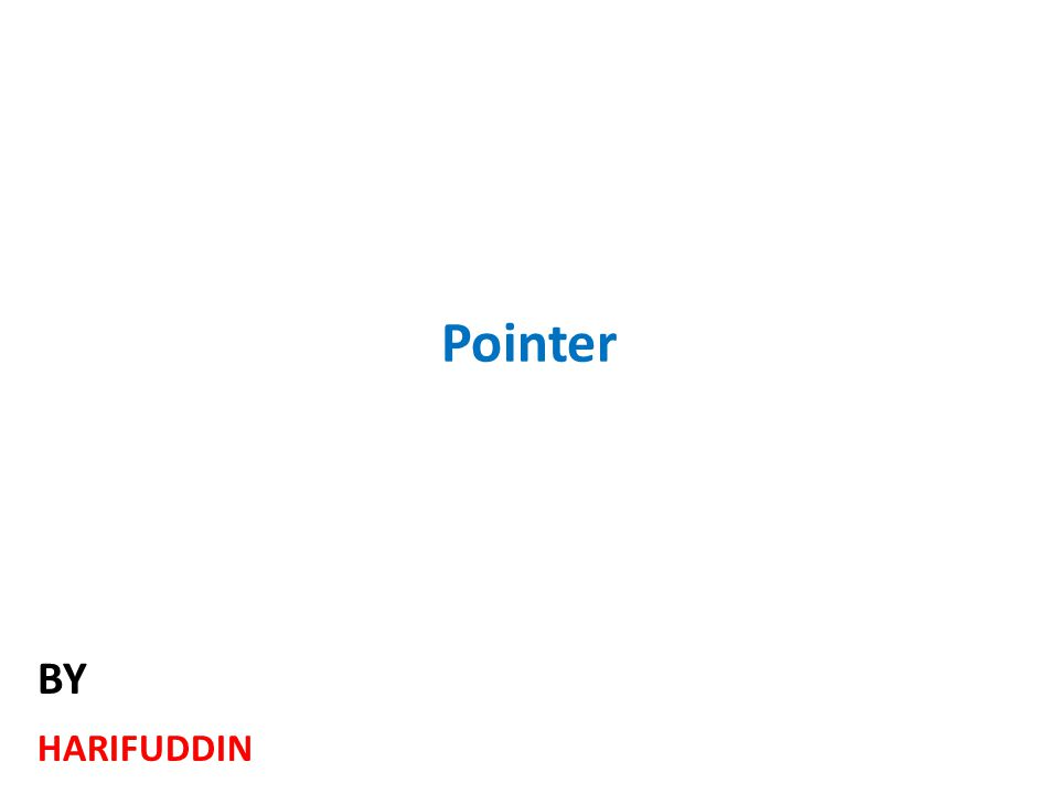 Pointer HARIFUDDIN BY