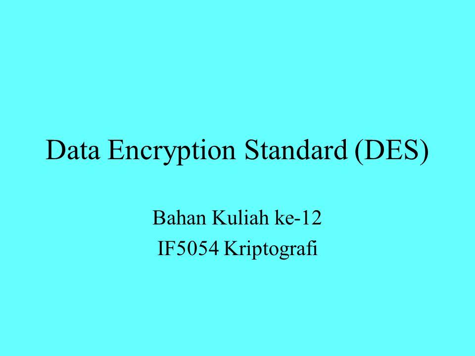 Dekripsi Dekripsi terhadap cipherteks merupakan kebalikan dari proses enkripsi.