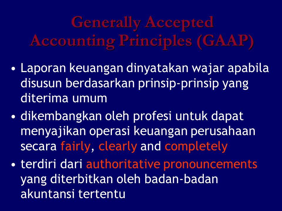 Laporan keuangan dinyatakan wajar apabila disusun berdasarkan prinsip-prinsip yang diterima umum dikembangkan oleh profesi untuk dapat menyajikan oper