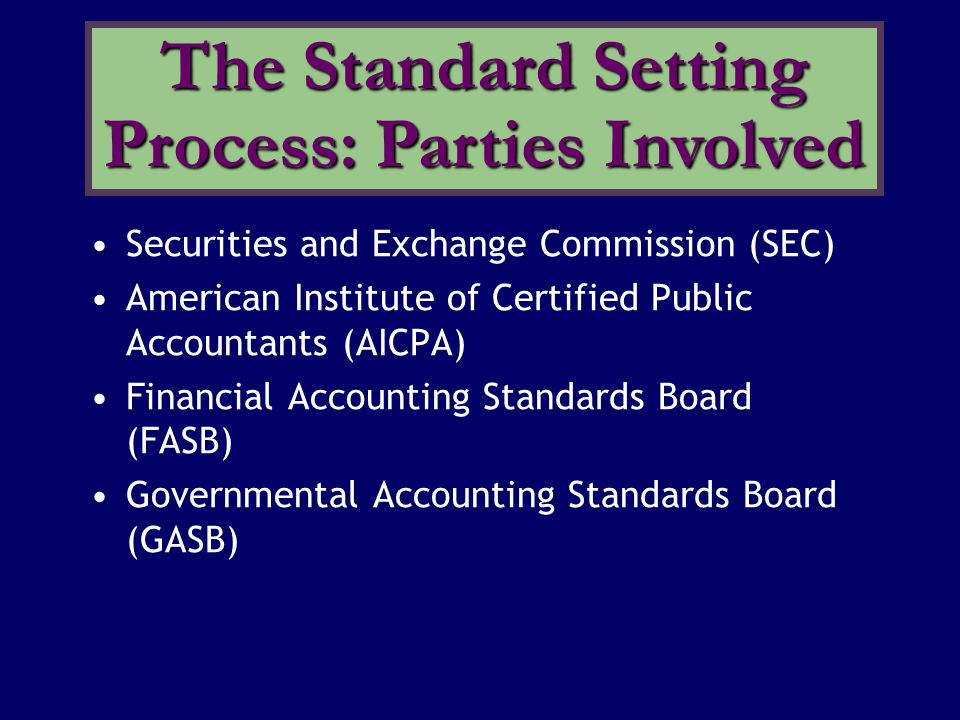 The FASB enjoys the following advantages compared to its predecessor, the Accounting Principles Board: * smaller membership * greater autonomy * increased independence of members * broader representation on the Board The Financial Accounting Standards Board (FASB)