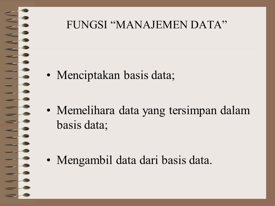 """TUJUAN """"MANAJEMEN DATA"""" 1.Menyediakan informasi yang akurat dan tepat waktu. 2.Mengembangkan dan mempertahankan satu sistem yang efisien untuk membuat"""