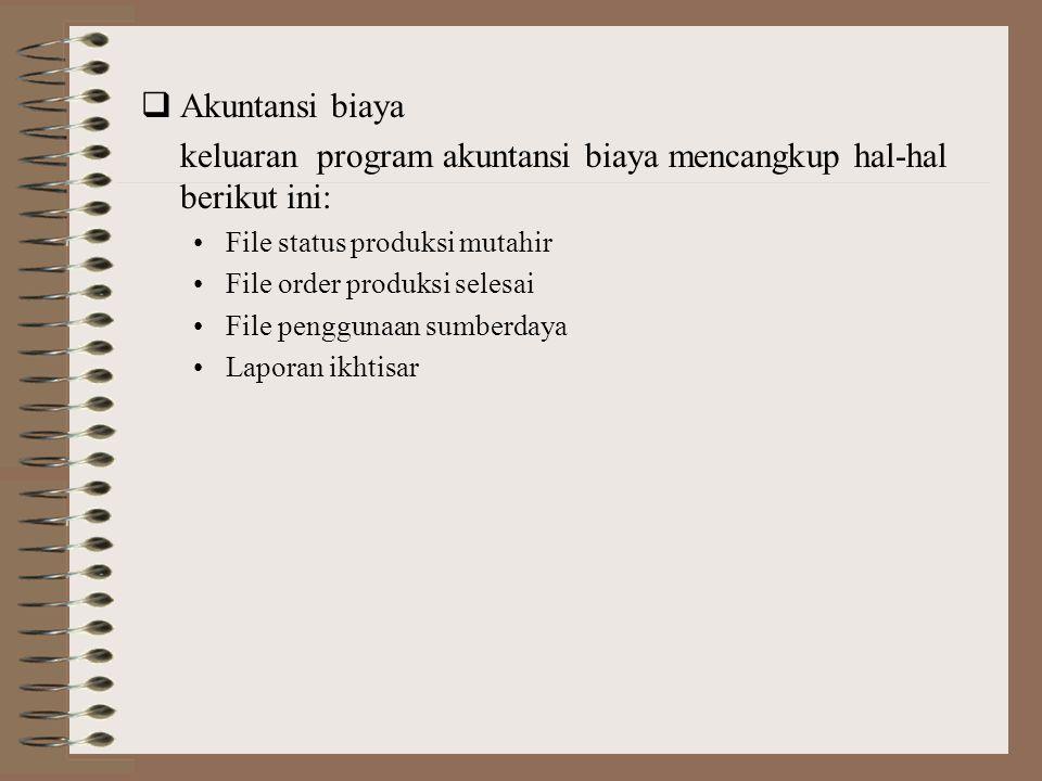 Produksi Pengendalian Persediaan Tagihan Bahan Pemasaran Daftar Kegiatan Operasi Induk Departemen Produksi 1 4 2 3 5 Kunci Arus Data: 1.Ramalan Penjua