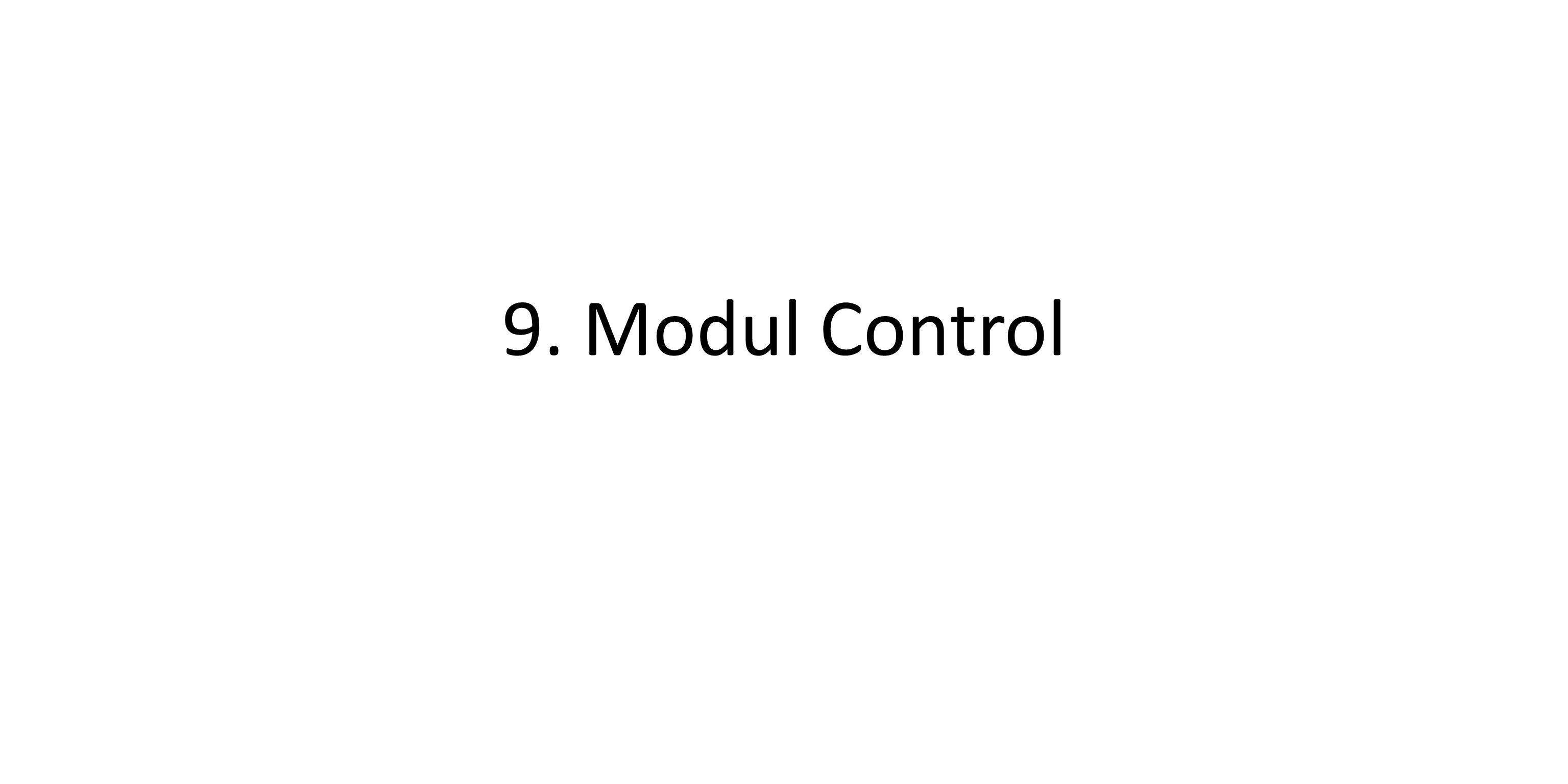 Pengenalan Control Perintah yang ada di blok control menjelaskan tentang cara mengatur pergerakkan di dalam objek untuk mengulangi perintah gerakan secara terus – menerus dan berhenti dengan kondisi yang diinginkan.