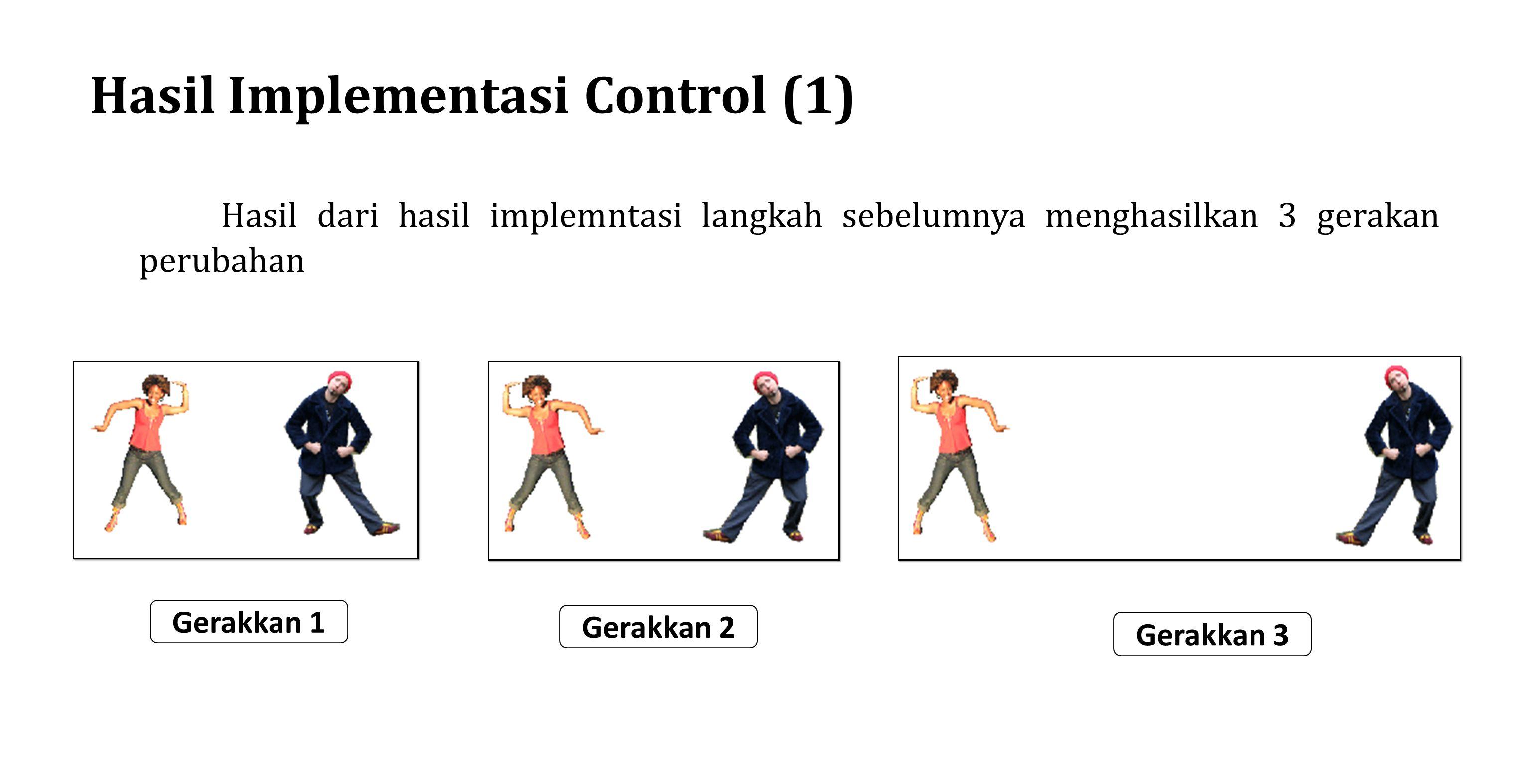 Implementasi Control 2 ( langkah 1) Pada tahap implementasi 2 kita akan membuat animasi dengan 3 sprite dengen menggunakan blok control dengan menggunakan skrip perintah selalu berulang dan perintah untuk kondisi perintah pergerakkan pada glide.