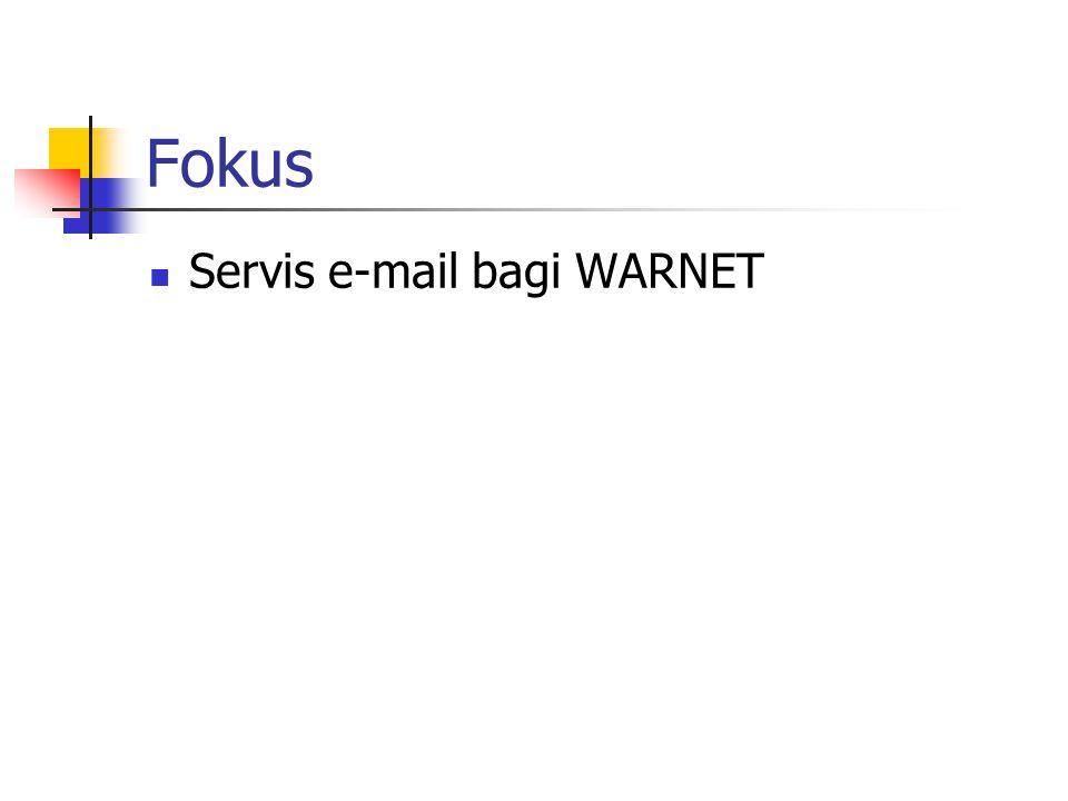 Fokus Servis e-mail bagi WARNET