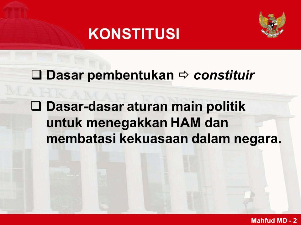 HAKIM MK BBerjumlah 9 orang: 3 orang diajukan DPR, 3 orang diajukan Pemerintah/Presiden, 3 orang diajukan MA.