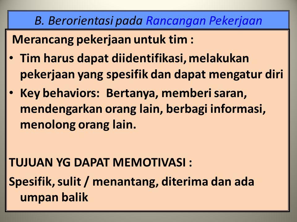 B. Berorientasi pada Rancangan Pekerjaan Formula MPS (motivating potential score) : V + I + S MPS = -------------- x O x U 3  moderator yg mempengaru