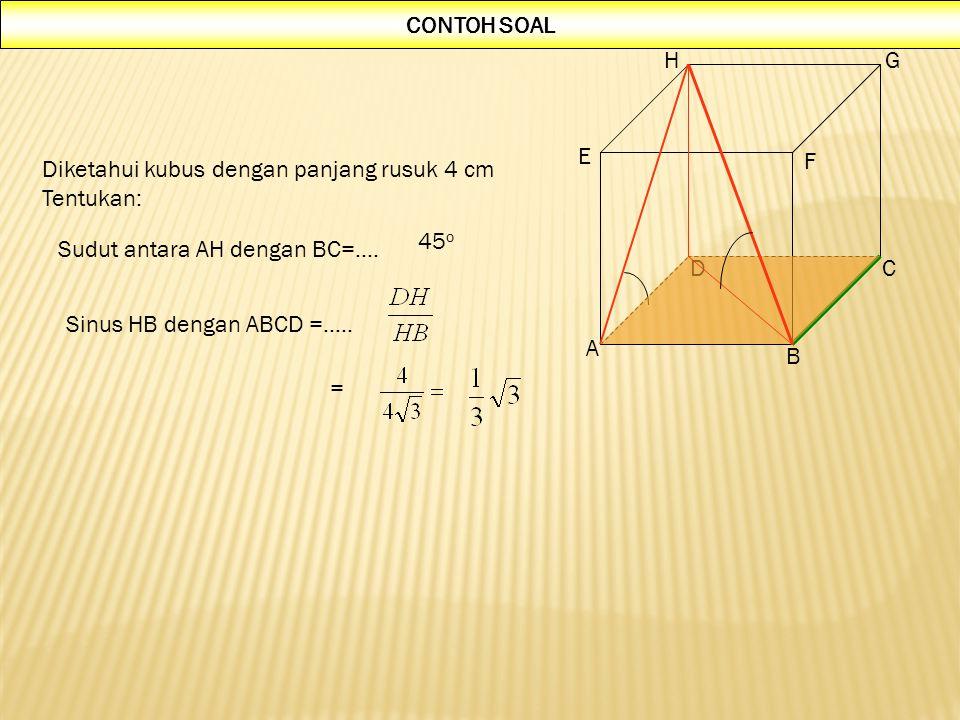 3. MENGGUNAKAN SUMBU AFINITAS B C G H  K  K  S  P  Q  R A E F D  S  S PERHATIKAN GARIS-GARIS POTONG: (ADHE, ABCD) = AD (ADHE, PQR) = QP (AD, Q