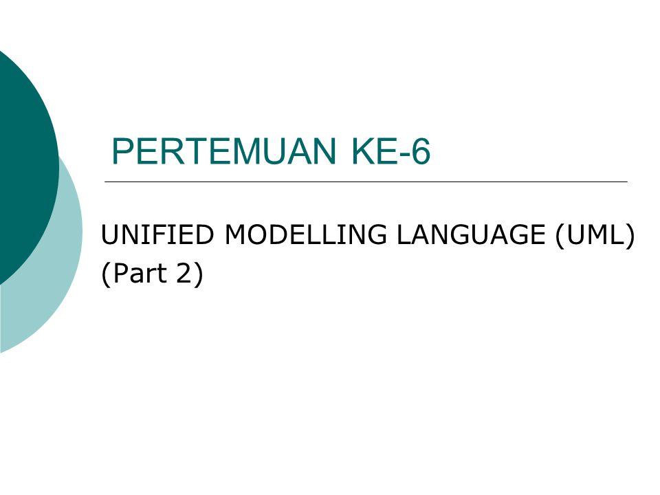 PERTEMUAN KE-6 UNIFIED MODELLING LANGUAGE (UML) (Part 2)