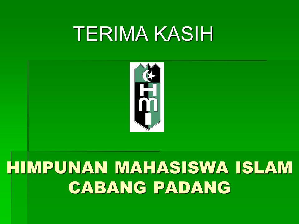HIMPUNAN MAHASISWA ISLAM CABANG PADANG TERIMA KASIH