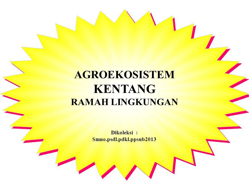 AGROEKOSISTEM KENTANG RAMAH LINGKUNGAN Dikoleksi : Smno.psdl.pdkl.ppsub2013 AGROEKOSISTEM KENTANG RAMAH LINGKUNGAN Dikoleksi : Smno.psdl.pdkl.ppsub201