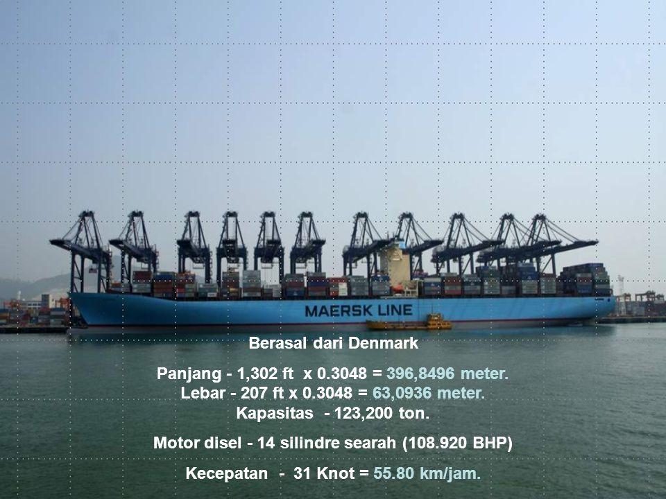 Berasal dari Denmark Panjang - 1,302 ft x 0.3048 = 396,8496 meter.