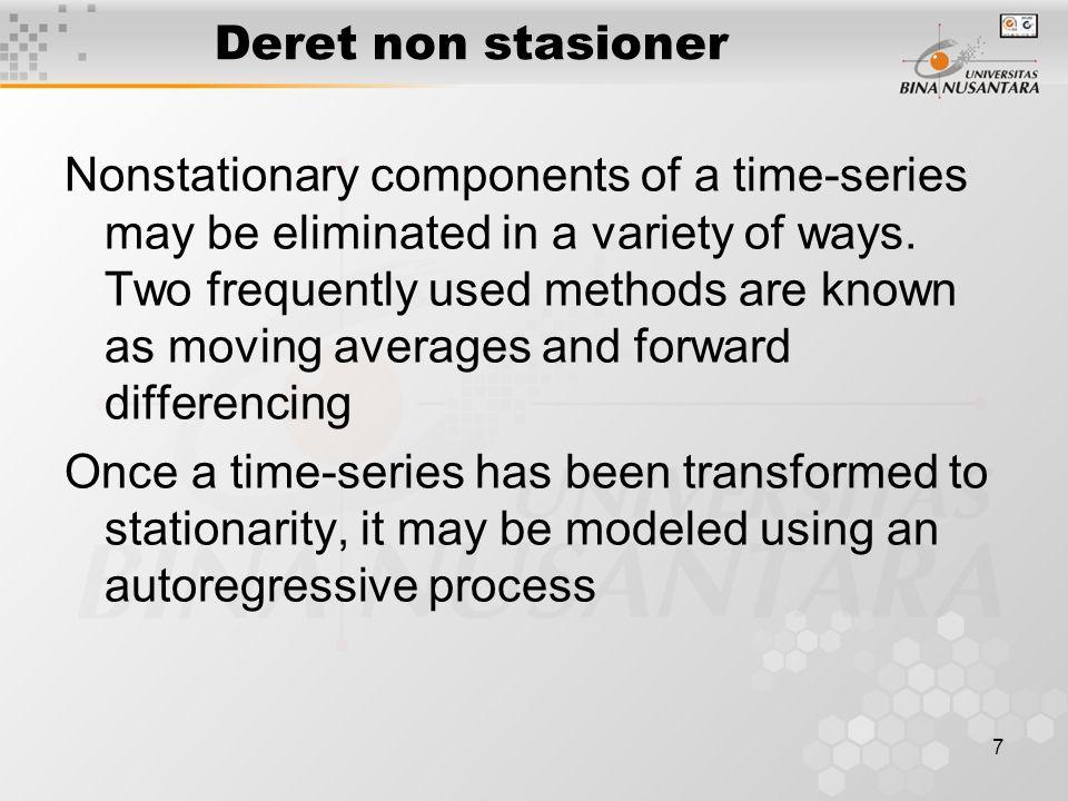 18 Kriteria statistik D-W Nilai galat bersifat acak, jika nilai statistik Durbin-Watson sekitar 2.