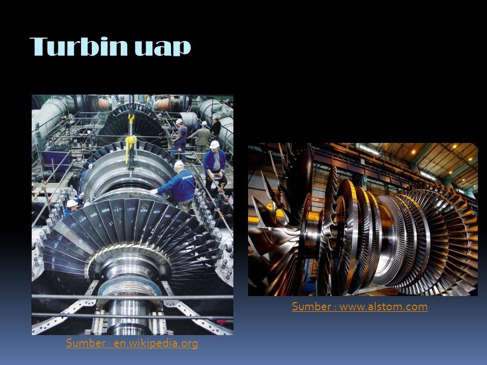 Turbin uap Sumber : en.wikipedia.org Sumber : www.alstom.com