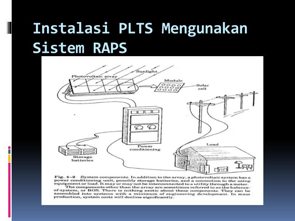 Instalasi PLTS Mengunakan Sistem RAPS