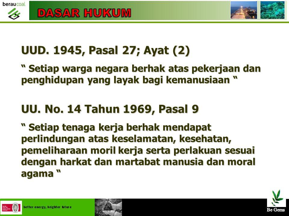 4/25/20152 UUD 1945; Pasal 27, Ayat (2) TAP MPR RI MPR; No. 341/1930 Undang-Undang;No. 11/1967, Pasal 29 Undang-Undang; No. 14/1969, Pasal 9 PERPU; Pe