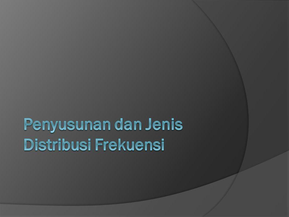 Contoh: Hasil UAS Pengantar Ilmu Hubungan Internasional FISE RESPATI dalam distribusi frekuensi kumulatif atau lebih.