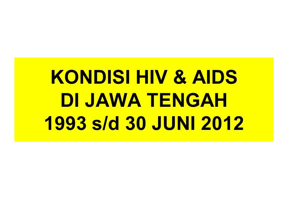 KONDISI HIV & AIDS DI JAWA TENGAH 1993 s/d 30 JUNI 2012