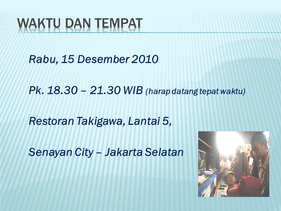 Rabu, 15 Desember 2010 Pk.