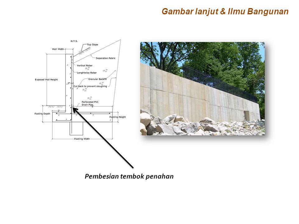 Pembesian tembok penahan