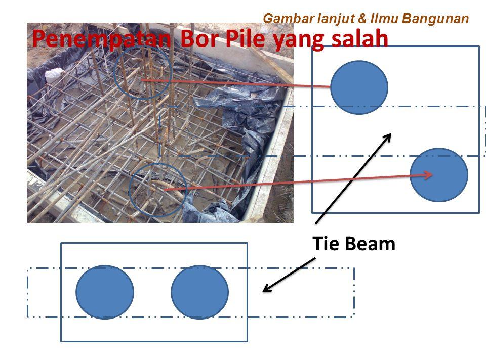 Penempatan Bor Pile yang salah Tie Beam Gambar lanjut & Ilmu Bangunan