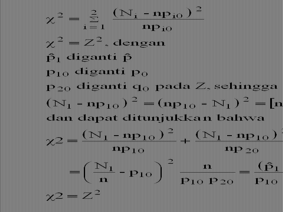 Jika Z adalah peubah normal baku maka Z 2 menyebar secara  2 dengan derajat bebas r = 1.