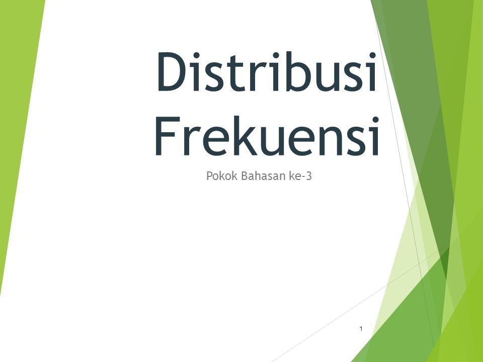 Distribusi Frekuensi Pokok Bahasan ke-3 1