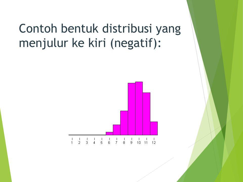 Beberapa alat yang digunakan untuk mendeteksi bentuk distribusi :  Histogram dan poligon  Distribusi Frekuensi  Diagram batang-daun  Diagram kotak garis 7