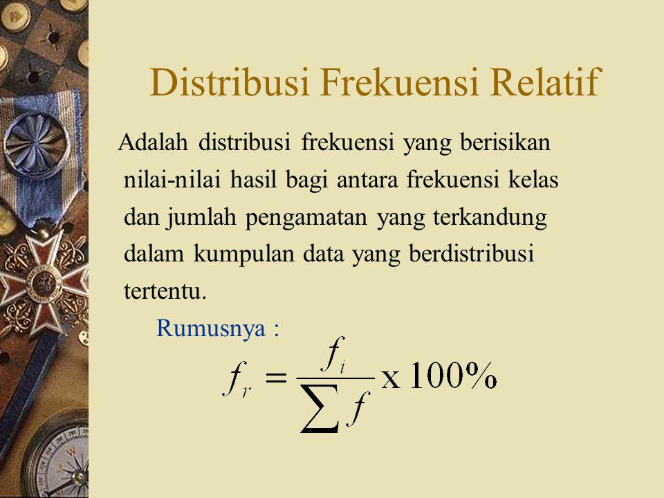 b. Distribusi frekuensi katagori Adalah distribusi frekuensi yang pembagian kelasnya dinyatakan berdasarkan data atau golongan data yang ada. Perusaha