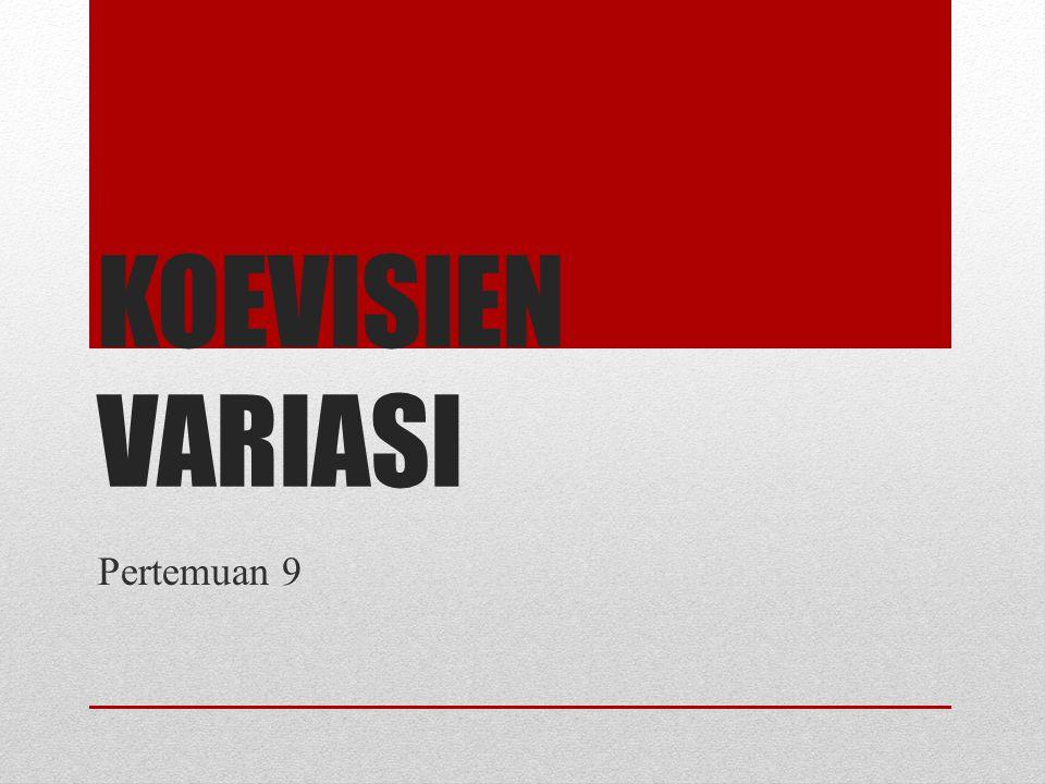 Koevisien Variasi