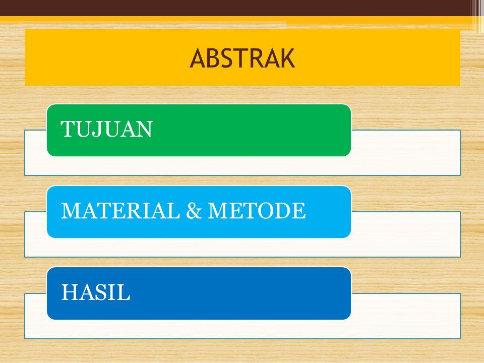 ABSTRAK TUJUANMATERIAL & METODEHASIL